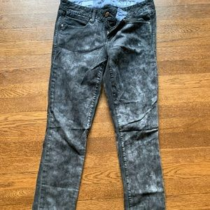 Skinny Acid Washed Black Jeans